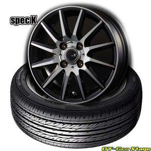 【限定1set】軽自動車用タイヤ&ドレスアップホイールセット〈155/65R14 75S〉グッドイヤーGT-EcoStage & spec K