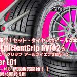 【限定1set】195/65R15 91H|ミニバン専用|グッドイヤー EfficientGrip RVF02 & Exceeder E01|タイヤホイール4本セット