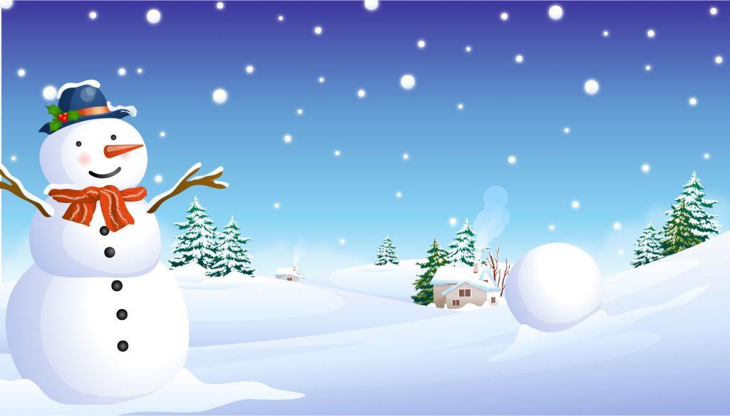 雪|雪だるま