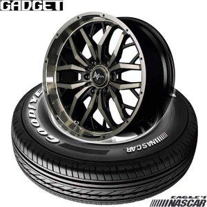 【新発売】ハイエース・キャラバン用タイヤホイールセット、グッドイヤー EAGLE #1 NASCAR & NITRO POWER GADGET