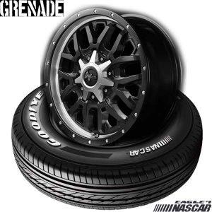 【新発売】ハイエース用16インチセット、グッドイヤー EAGLE #1 NASCAR & NITRO POWER GRENADE