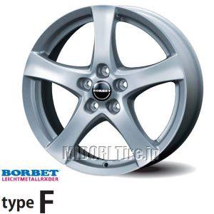 【新発売】輸入車用アルミホイールBORBET type F<ボルベット タイプ F> を新規発売開始