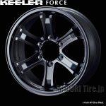 【新価格】4×4用アルミホイール、KEELER FORCE〈キーラーフォース〉16~17インチのグロスブラックを新規発売開始