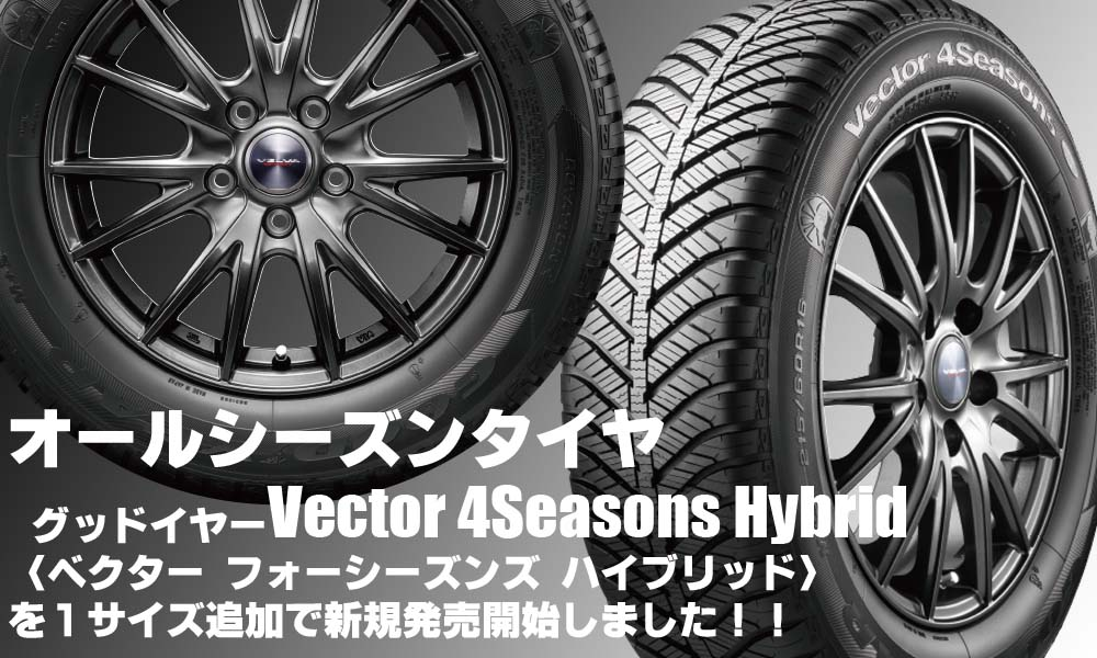 【追加発売】オールシーズンタイヤ、グッドイヤー Vector 4Seasons Hybridを1サイズ追加で新規発売開始
