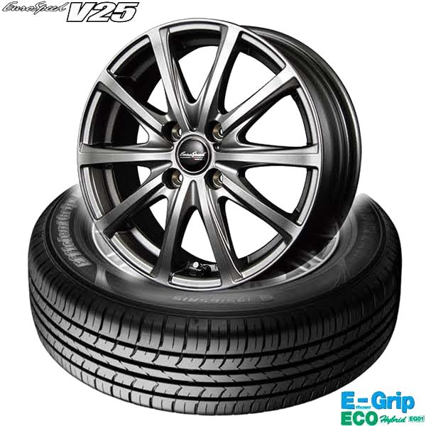 グッドイヤーEfficientGrip ECO EG01 &EuroSpeed V25|タイヤホイール4本セット