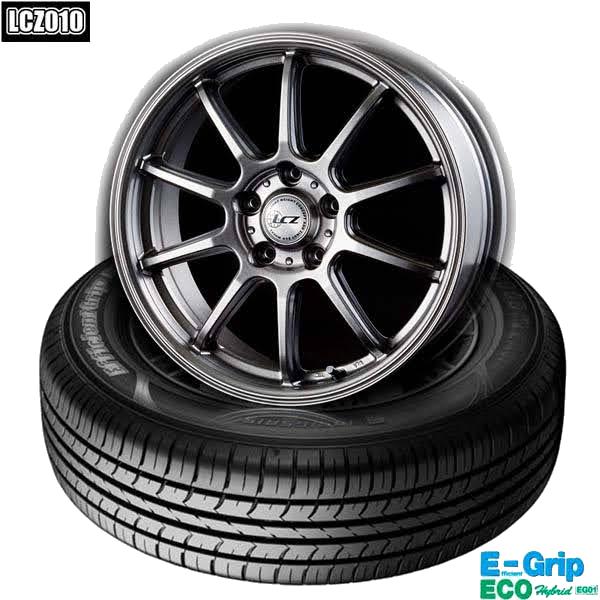 グッドイヤーEfficientGrip ECO EG01 &LCZ010|スタンダード低燃費タイヤ & 軽量ホイール4本セット