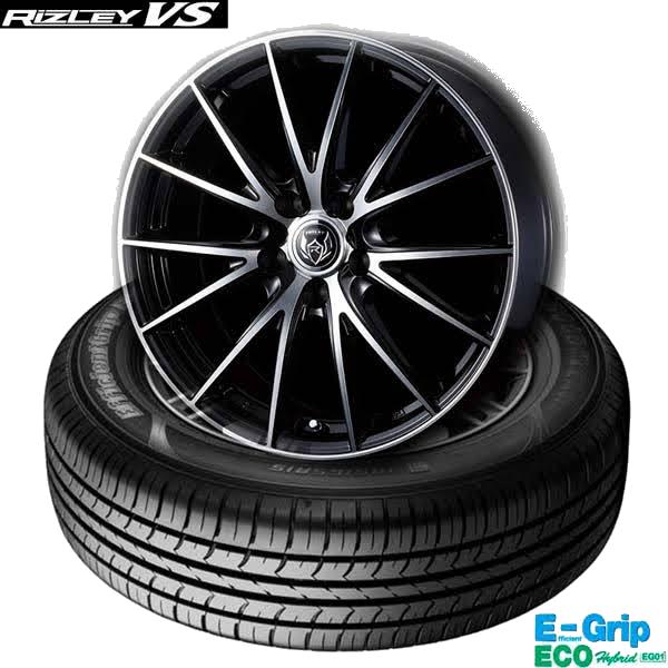 グッドイヤーEfficientGrip ECO EG01 &ウェッズRIZLEY VS|低燃費タイヤ&ドレスアップホイール4本セット