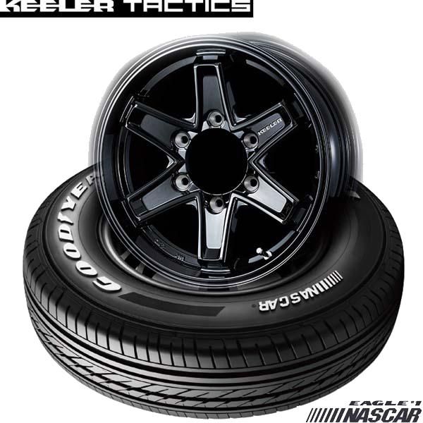 グッドイヤーEAGLE #1 NASCAR&KEELER TACTICS|ハイエース用タイヤホイール4本セット