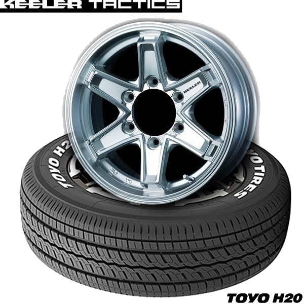トーヨーTOYO H20&KEELER TACTICS|ハイエース用タイヤホイール4本セット