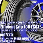 【店頭在庫限定1セット】グッドイヤーEfficient Grip ECO EG01&EuroSpeed V25|タイヤホイール4本セット